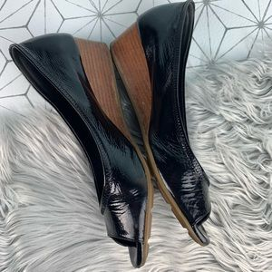 Cole Haan Nike Air Black Pantene Leather Wedges